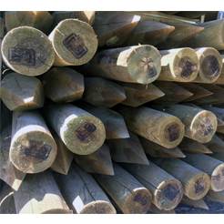 75mm- 100mm peeled round posts UC3