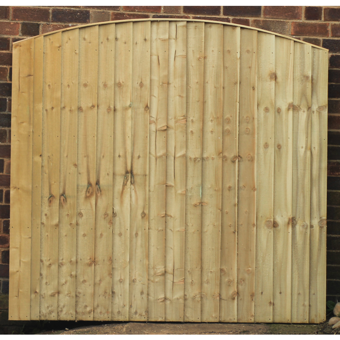 3ft / 4ft / 5ft / 6ft x 6ft Premium Dome Top Featheredge Panels Pressure  Treated