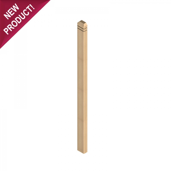 Square Half Mule Post for Decking